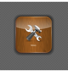 Tools wood application icons vector