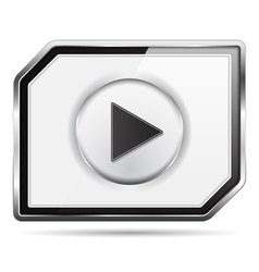 Video Player Icon vector image vector image