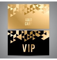 VIP cards Black and golden design Triangle vector image vector image