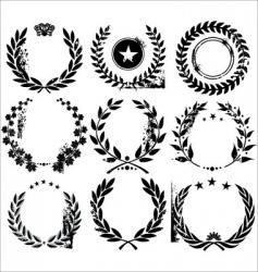 grunge laurel wreaths vector image vector image
