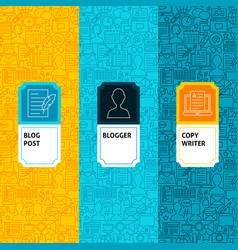 Line blogging package labels vector