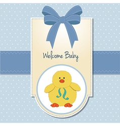 new baby boy welcome card vector image vector image