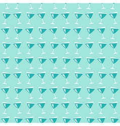 Wine glasses pattern vector image vector image