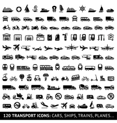 120 transport icon vector