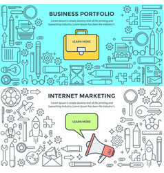 banners for internet marketing and business vector image vector image