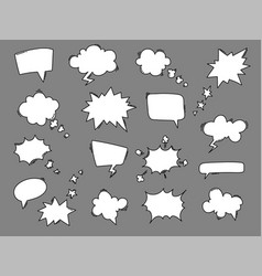 cartoon speech balloons collection vector image