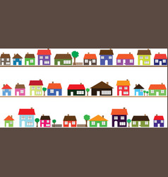 Neighborhood with colorful homes vector image