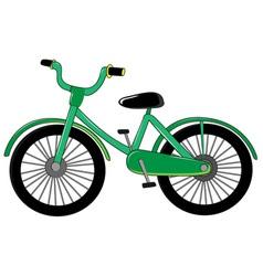 Small green bike vector image