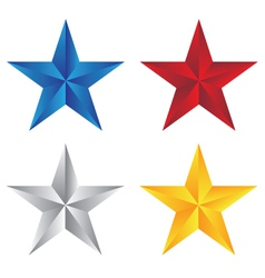 stars with different color vector image vector image