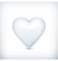 White heart icon vector image