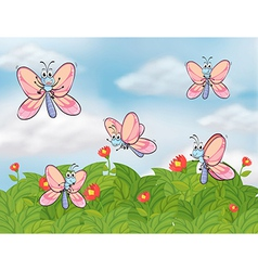 c5017b44f971 Five   Butterflies Vector Images (40)