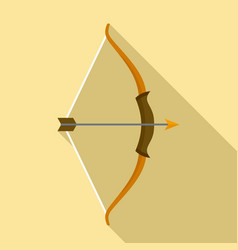 Archer bow icon flat style vector