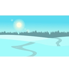 At winter hill landscape flat vector image