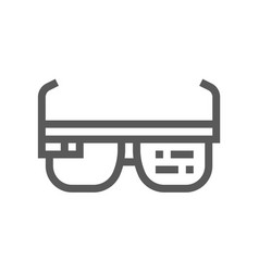 augmented reality glasses line icon vector image