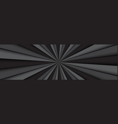 black and grey abstract header dark lines vector image
