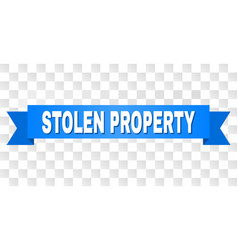 Blue tape with stolen property caption vector