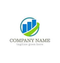 Business finance stock company logo vector