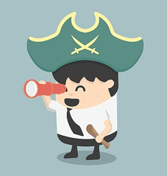 businessman Pirates the Hunt vector image