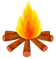 Campfire on white vector