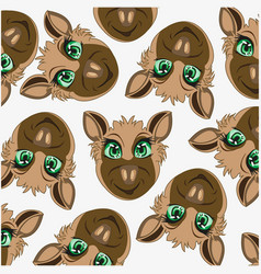 Cartoon of the mode animal jackal decorative vector