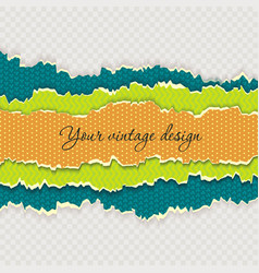 color paper layers with different patterns and vector image