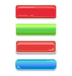 colorful editable navigation buttons set vector image