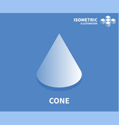 cone icon isometric template for web design vector image