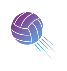 Contour ball to play volleyball sport vector