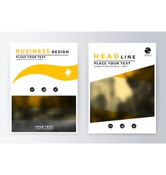 Cover design yellow and white Template brochure vector image