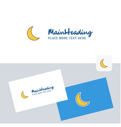 Cresent logotype with business card template vector