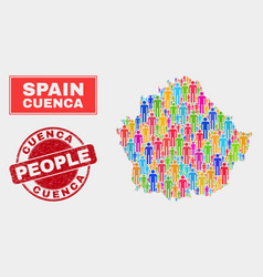 Cuenca province map population people and unclean vector