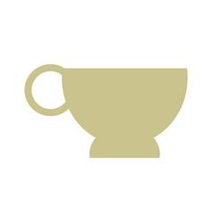 cup beige flat vector image