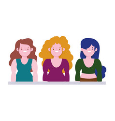 diversity and inclusion group short stature women vector image