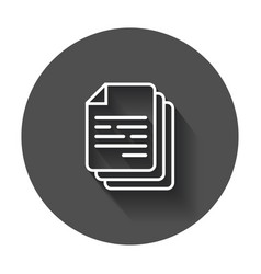 Document icon paper sheet simple pictogram with vector