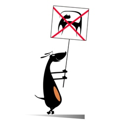 Dogs against cats vector image