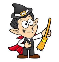 Dracula character halloween costume halloween day vector