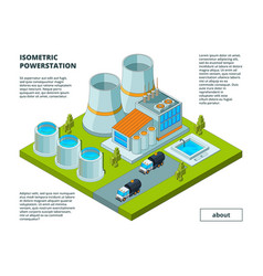 electric factory power plant electrical vector image