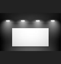 empty black studio room interior clean workshop vector image