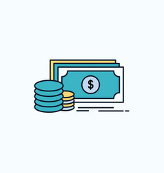 finance investment payment money dollar flat icon vector image
