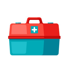 first aid kit icon in flat style vector image