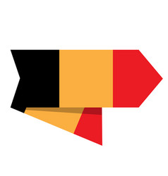 flag of belgium on a label vector image