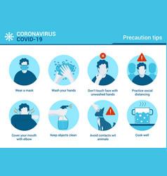 Flat modern design coronavirus - precaution vector