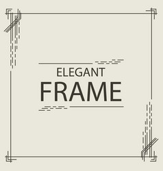 frame elegant line style square shape vector image