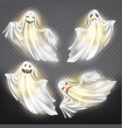 Ghosts phantoms set halloween spooky vector