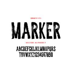 Graffiti marker font design hand drawn style vector