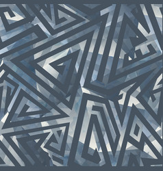 grey color maze seamless pattern vector image