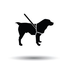 Guide dog icon vector