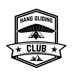 hang gliding club emblem template design element vector image