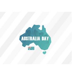 happy australia day greeting card vector image