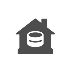 home finance and budget glyph icon vector image